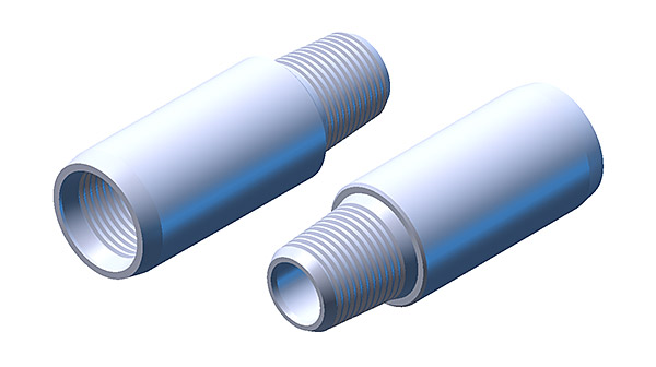 Drilling pipes and their couplings